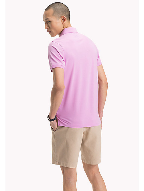 TOMMY HILFIGER Slim Fit Polo Shirt - ORCHID - TOMMY HILFIGER Polo Shirts - detail image 1