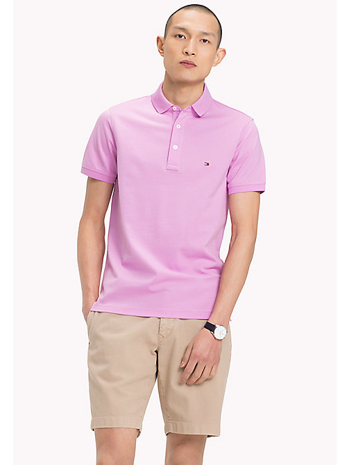 TOMMY HILFIGER Slim Fit Polo Shirt - ORCHID - TOMMY HILFIGER Polo Shirts - main image