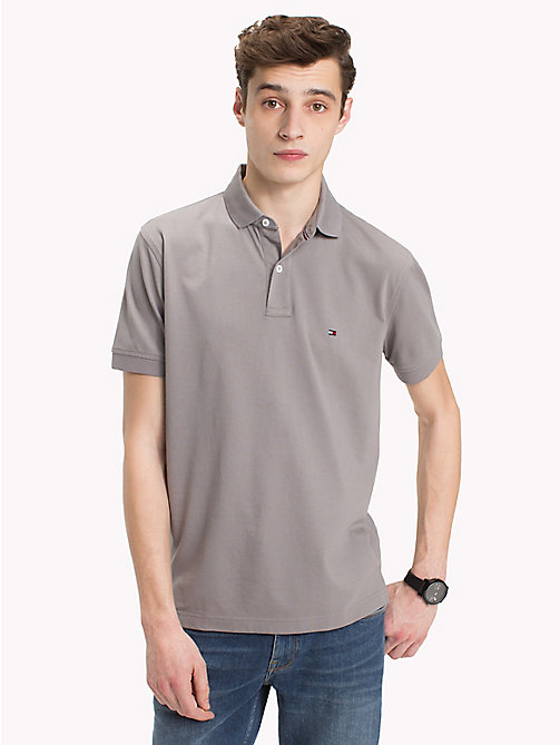 TOMMY HILFIGER Regular Fit Polo Shirt - CLOUDBURST - TOMMY HILFIGER Polo Shirts - main image