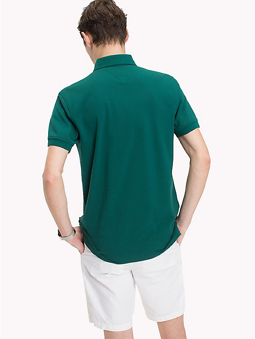 TOMMY HILFIGER Regular Fit Polo Shirt - FOREST BIOME - TOMMY HILFIGER Polo Shirts - detail image 1