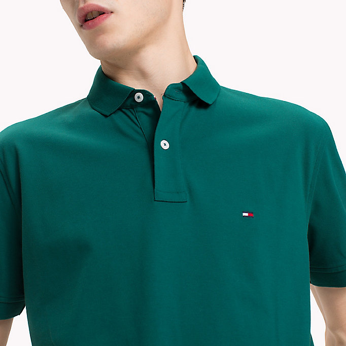 TOMMY HILFIGER Regular Fit Polo Shirt - STRONG BLUE - TOMMY HILFIGER Men - detail image 2