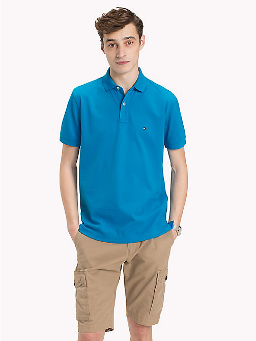 TOMMY HILFIGER Regular Fit Polo Shirt - HAWAIIAN SURF - TOMMY HILFIGER Polo Shirts - main image