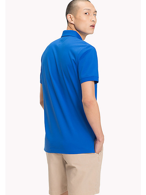 TOMMY HILFIGER Pure Cotton Pique Polo Shirt - STRONG BLUE - TOMMY HILFIGER Vacation Style - detail image 1