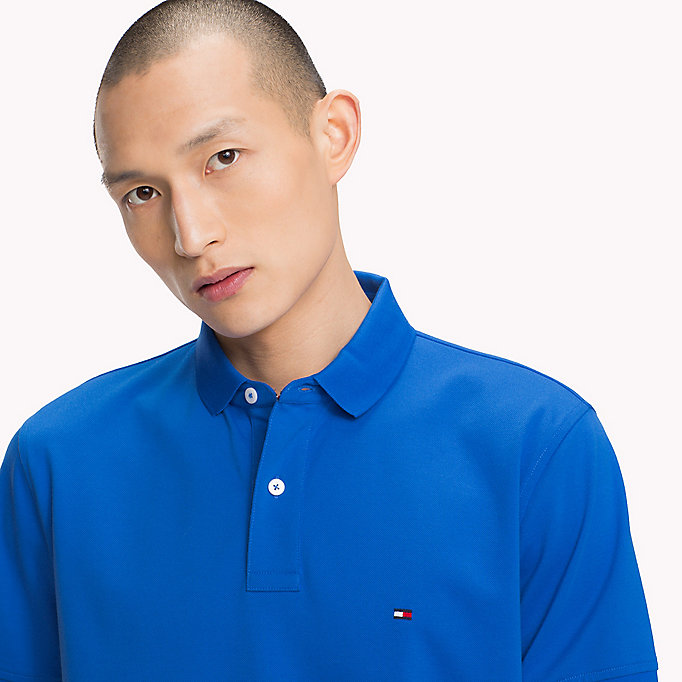 TOMMY HILFIGER Regular Fit Polo Shirt - BLUE OPAL - TOMMY HILFIGER Men - detail image 2