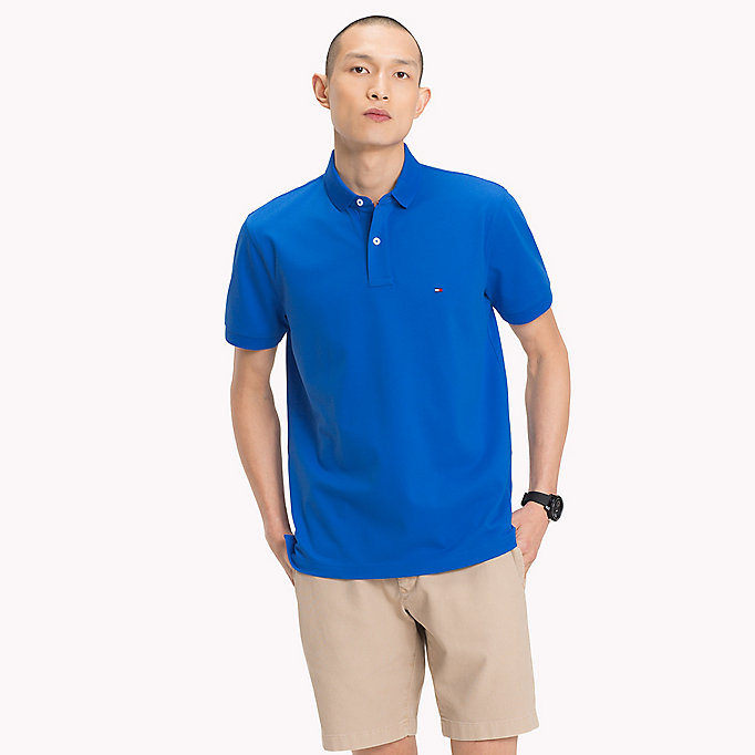 TOMMY HILFIGER Regular Fit Polo Shirt - BLUE OPAL - TOMMY HILFIGER Men - main image