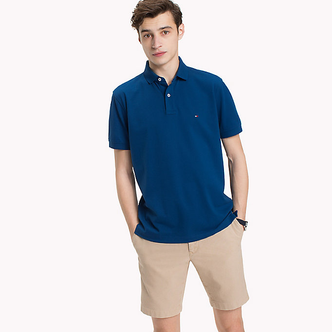 TOMMY HILFIGER Regular Fit Polo Shirt - HAWAIIAN SURF - TOMMY HILFIGER Men - main image