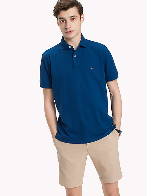 TOMMY HILFIGER Regular Fit Polo Shirt - BLUE OPAL - TOMMY HILFIGER Polo Shirts - main image
