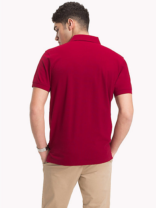 TOMMY HILFIGER Pure Cotton Pique Polo Shirt - RHUBARB - TOMMY HILFIGER NEW IN - detail image 1