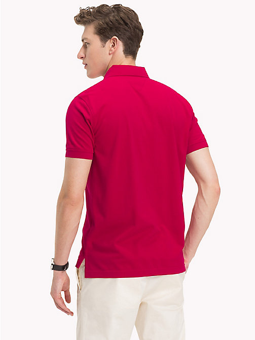 TOMMY HILFIGER Pure Cotton Pique Polo Shirt - PERSIAN RED - TOMMY HILFIGER Clothing - detail image 1