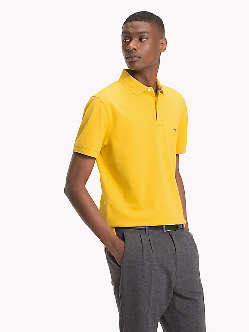 TOMMY HILFIGER Pure Cotton Pique Polo Shirt - CEYLON YELLOW - TOMMY HILFIGER Polo Shirts - main image