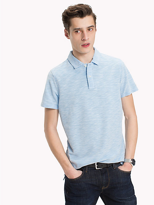 TOMMY HILFIGER Polo space dye - BONNIE BLUE - TOMMY HILFIGER Looks de vacances - image principale