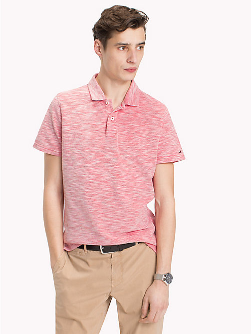 TOMMY HILFIGER Space Dye Polo Shirt - GOJI BERRY - TOMMY HILFIGER Vacation Style - main image