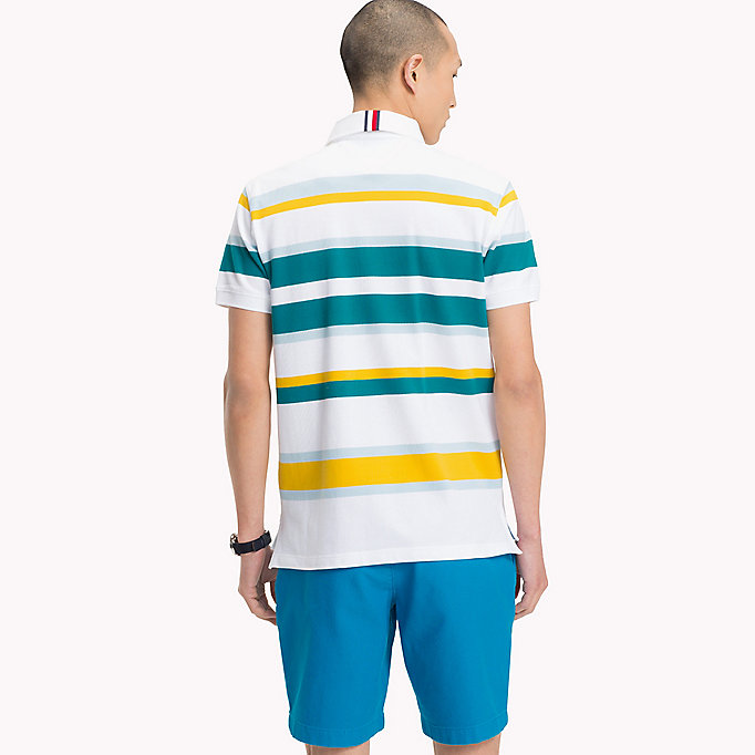 TOMMY HILFIGER Stripe Regular Fit Polo Shirt - PINK LEMONADE / MULTI - TOMMY HILFIGER Men - detail image 1