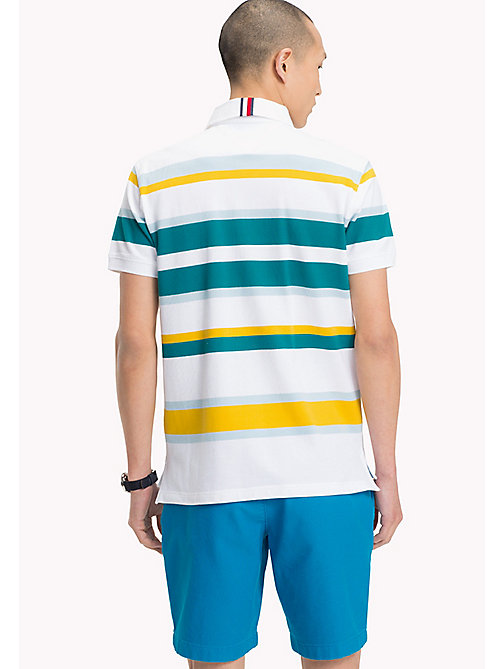 TOMMY HILFIGER Stripe Regular Fit Polo Shirt - FREESIA / MULTI - TOMMY HILFIGER Clothing - detail image 1