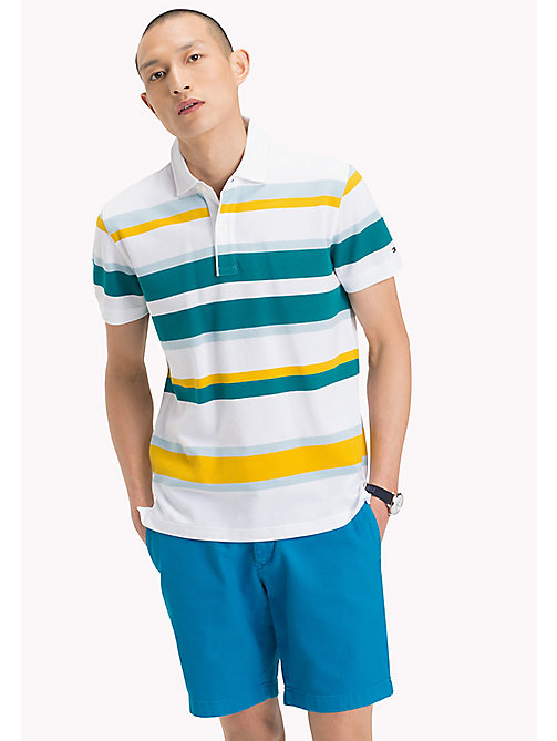 TOMMY HILFIGER Stripe Regular Fit Polo Shirt - FREESIA / MULTI - TOMMY HILFIGER Polo Shirts - main image