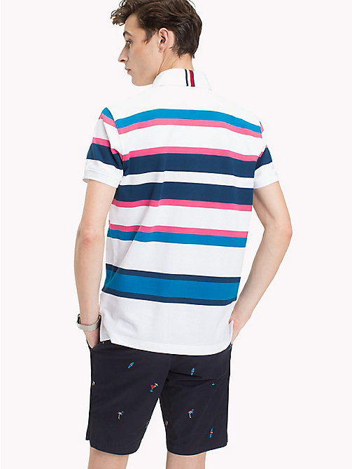 TOMMY HILFIGER Stripe Regular Fit Polo Shirt - PINK LEMONADE / MULTI - TOMMY HILFIGER Polo Shirts - detail image 1