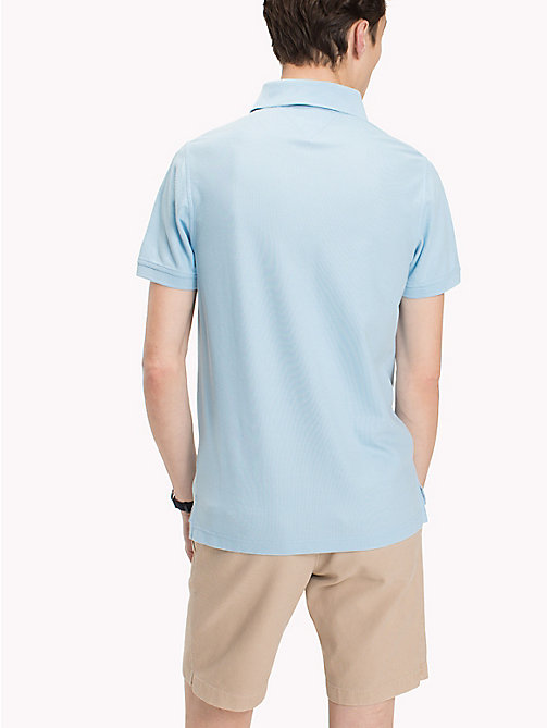 TOMMY HILFIGER Slim Fit Polo Shirt - COOL BLUE - TOMMY HILFIGER Polo Shirts - detail image 1
