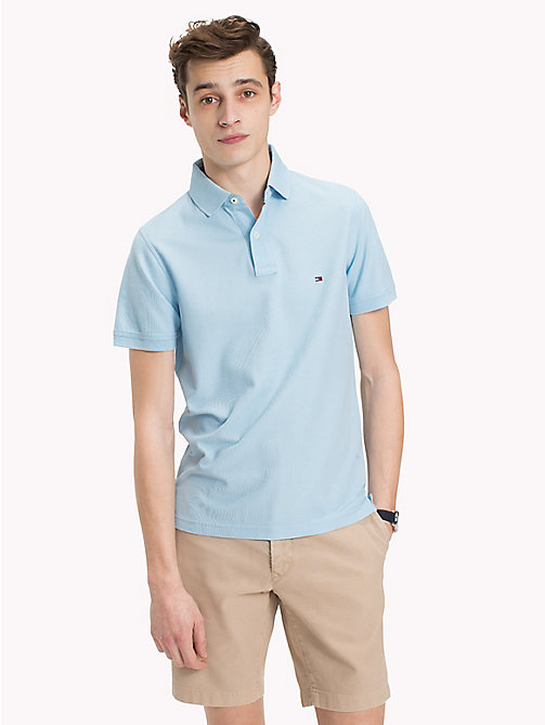TOMMY HILFIGER Slim Fit Polo Shirt - COOL BLUE - TOMMY HILFIGER Polo Shirts - main image