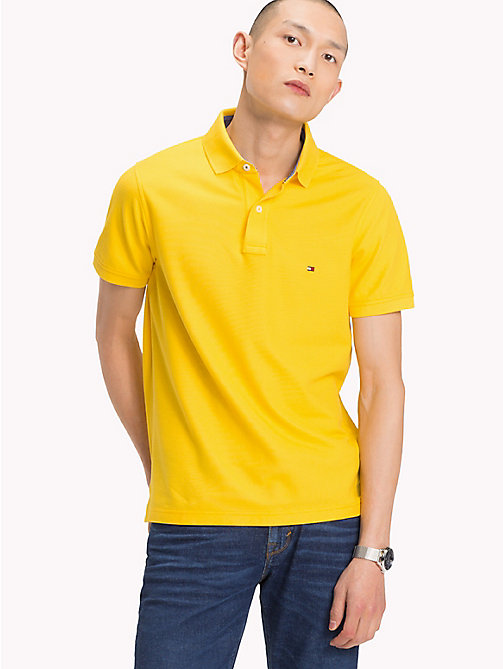 TOMMY HILFIGER Slim Fit Polo Shirt - FREESIA - TOMMY HILFIGER Polo Shirts - main image