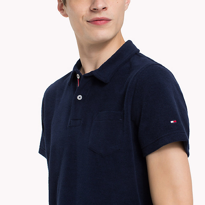 TOMMY HILFIGER Towelling Slim Fit Polo Shirt - FANFARE - TOMMY HILFIGER Men - detail image 2