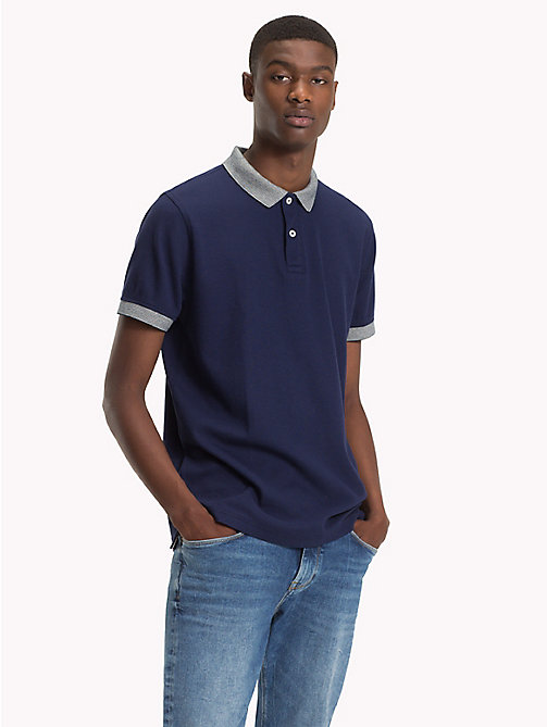 TOMMY HILFIGER Tipped Regular Fit Polo - MARITIME BLUE - TOMMY HILFIGER NEW IN - main image