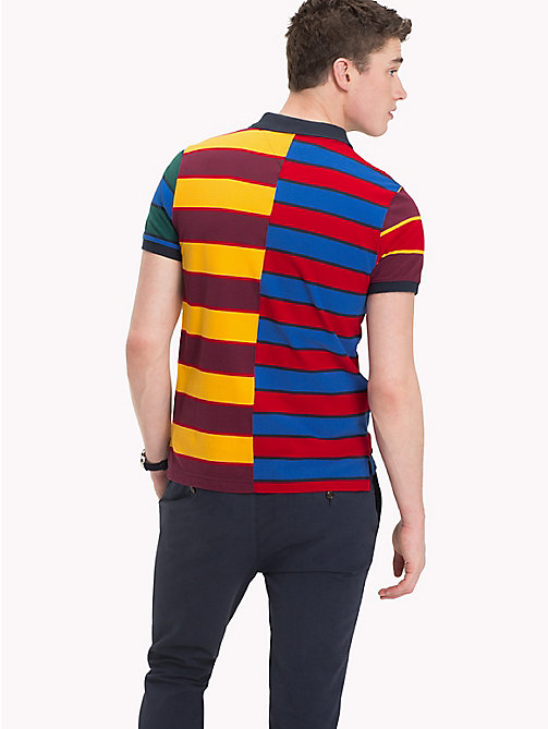 TOMMY HILFIGER All Over Stripe Print Polo - STRONG BLUE MULTI - TOMMY HILFIGER Polo Shirts - detail image 1