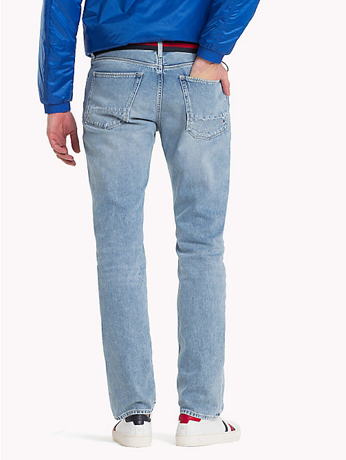 TOMMY HILFIGER Recycled Cotton Straight Fit Jeans - CAMPO INDIGO - TOMMY HILFIGER Sustainable Evolution - detail image 1