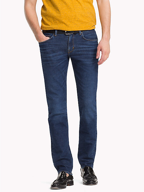 TOMMY HILFIGER Recycled Denim Straight Fit Jeans - CALHAN BLUE - TOMMY HILFIGER Clothing - main image