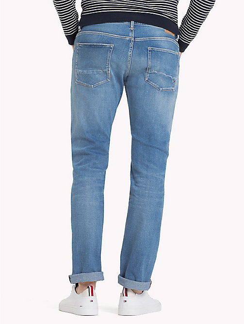 TOMMY HILFIGER Straight Fit Stretch Jeans - FOXFIELD INDIGO - TOMMY HILFIGER Straight-Fit Jeans - detail image 1