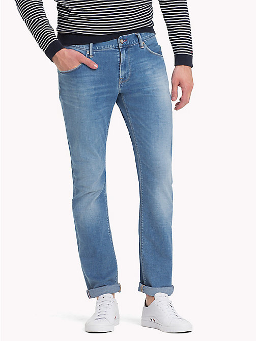 TOMMY HILFIGER Straight Fit Stretch Jeans - FOXFIELD INDIGO - TOMMY HILFIGER Jeans - main image