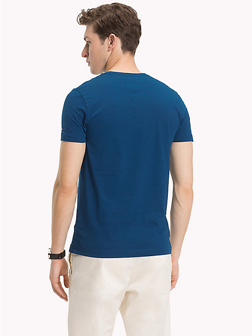 TOMMY HILFIGER Embossed Graphic T-Shirt - BLUE OPAL - TOMMY HILFIGER T-Shirts - detail image 1
