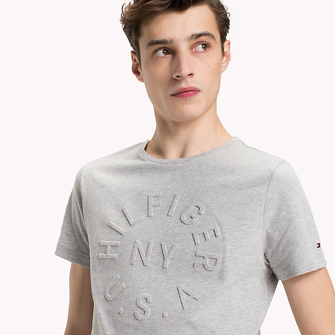 TOMMY HILFIGER Embossed Graphic T-Shirt - FREESIA - TOMMY HILFIGER Men - detail image 2