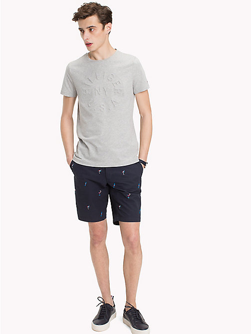 TOMMY HILFIGER Embossed Graphic T-Shirt - CLOUD HTR - TOMMY HILFIGER T-Shirts - main image