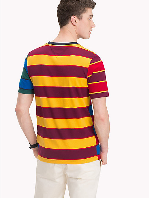 TOMMY HILFIGER Multicoloured Stripe T-Shirt - SKY CAPTAIN - TOMMY HILFIGER NEW IN - detail image 1