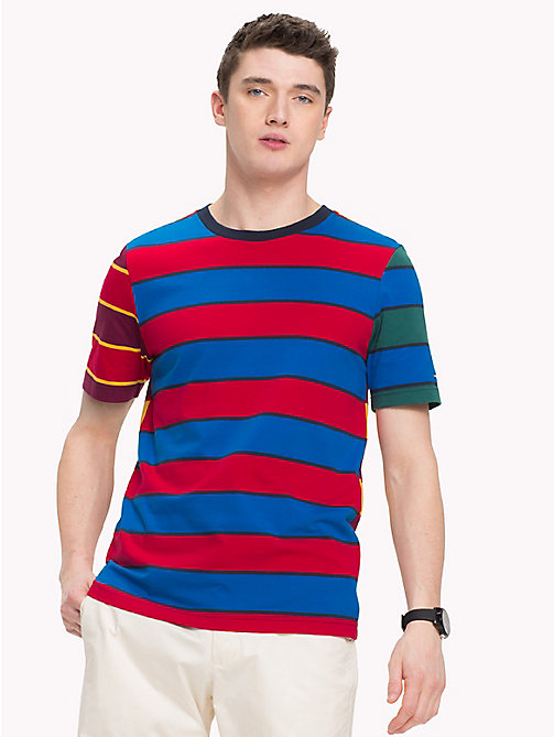 TOMMY HILFIGER Multicoloured Stripe T-Shirt - SKY CAPTAIN - TOMMY HILFIGER T-Shirts - main image