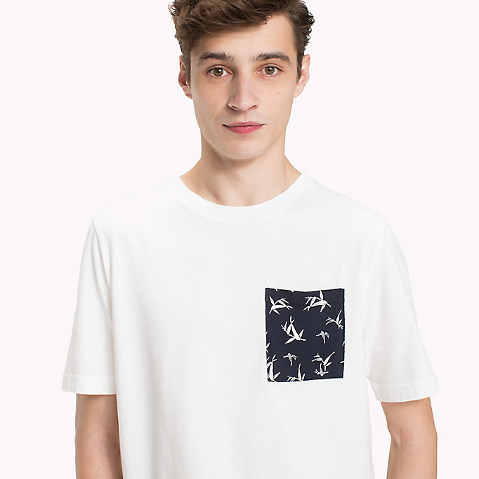 TOMMY HILFIGER Bamboo Print Pocket T-Shirt - CLOUD HTR - TOMMY HILFIGER Men - detail image 2