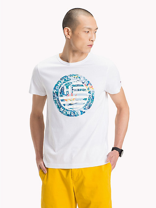 TOMMY HILFIGER T-shirt z logo Tommy Hilfiger - BRIGHT WHITE - TOMMY HILFIGER NEW IN - main image
