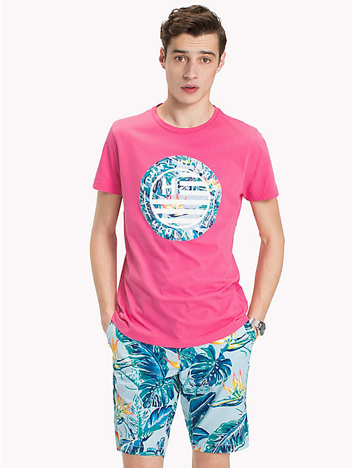 TOMMY HILFIGER T-shirt con logo Tommy Hilfiger - PINK LEMONADE - TOMMY HILFIGER Looks per le vacanze - immagine principale