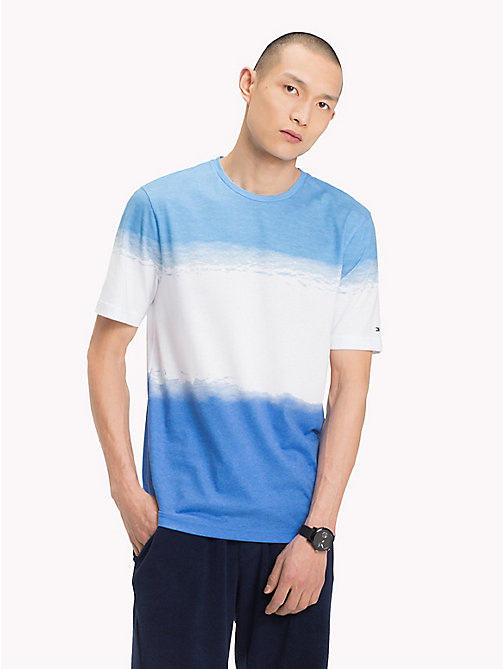 TOMMY HILFIGER Ombre Relaxed Fit T-Shirt - BONNIE BLUE - TOMMY HILFIGER Vacation Style - main image