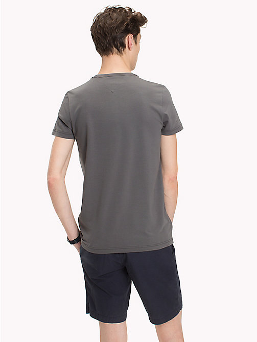 TOMMY HILFIGER Slim Fit T-Shirt - GRAY PINSTRIPE - TOMMY HILFIGER T-Shirts - main image 1