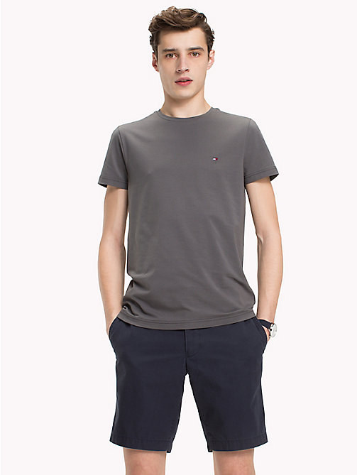TOMMY HILFIGER Slim Fit T-Shirt - GRAY PINSTRIPE - TOMMY HILFIGER T-Shirts - main image