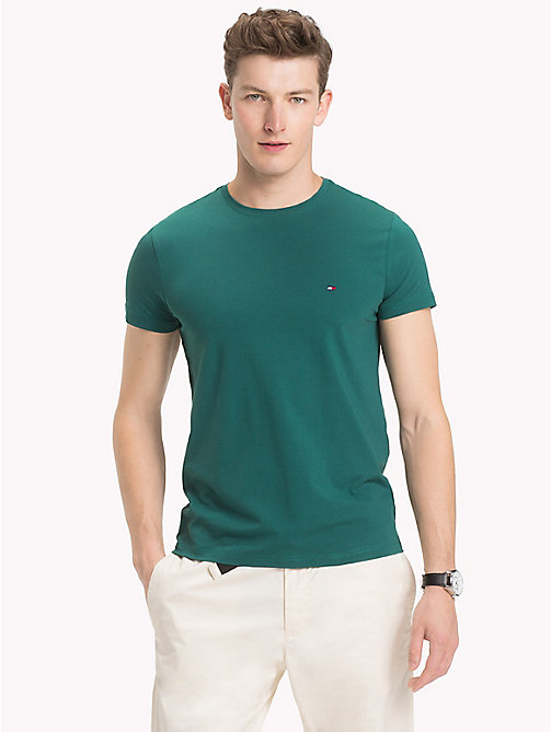 TOMMY HILFIGER Slim Fit T-Shirt - FOREST BIOME - TOMMY HILFIGER T-Shirts - main image