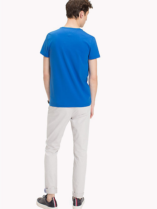 TOMMY HILFIGER Slim Fit T-Shirt - STRONG BLUE - TOMMY HILFIGER T-Shirts - main image 1