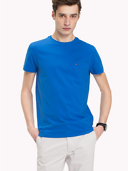 TOMMY HILFIGER Slim Fit T-Shirt - STRONG BLUE - TOMMY HILFIGER T-Shirts - main image