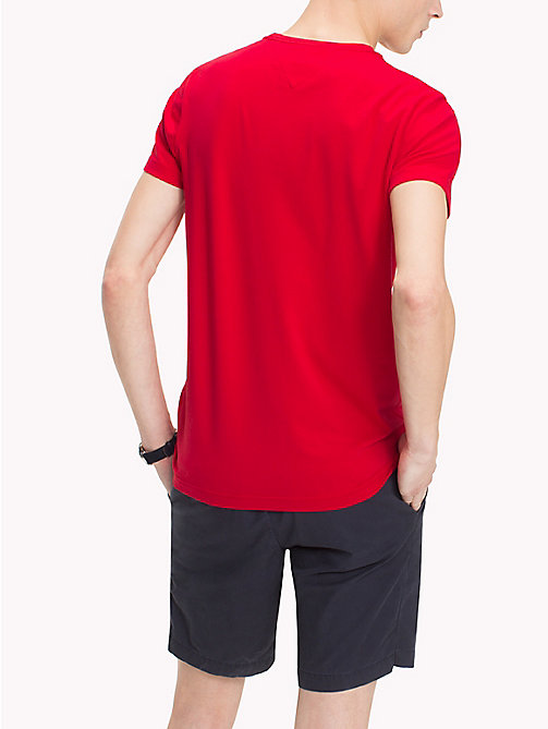 TOMMY HILFIGER Slim Fit T-Shirt - HAUTE RED - TOMMY HILFIGER T-Shirts - main image 1