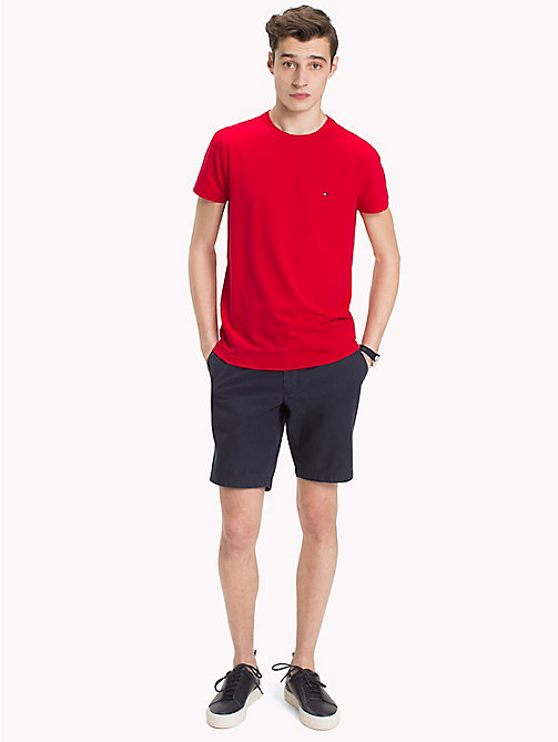 TOMMY HILFIGER Slim Fit T-Shirt - HAUTE RED - TOMMY HILFIGER T-Shirts - main image