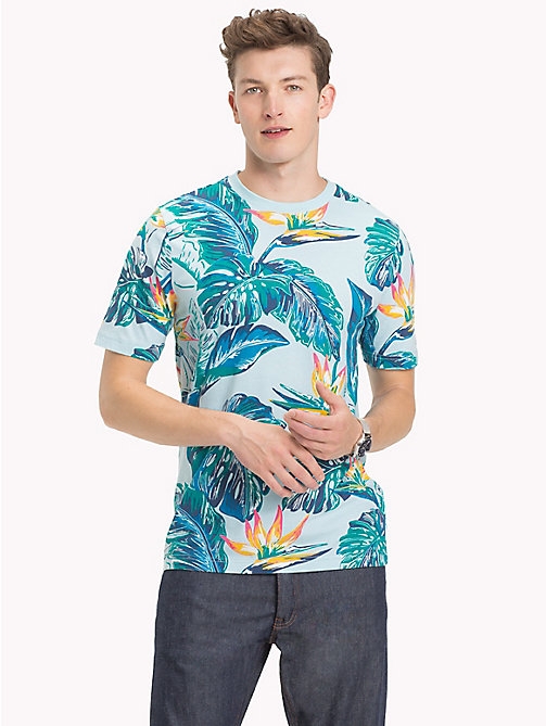 TOMMY HILFIGER Paradise Palm T-Shirt - COOL BLUE - TOMMY HILFIGER T-Shirts - main image