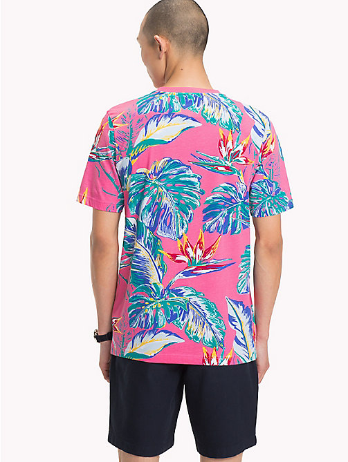 TOMMY HILFIGER Paradise Palm T-Shirt - PINK LEMONADE - TOMMY HILFIGER Vacation Style - detail image 1