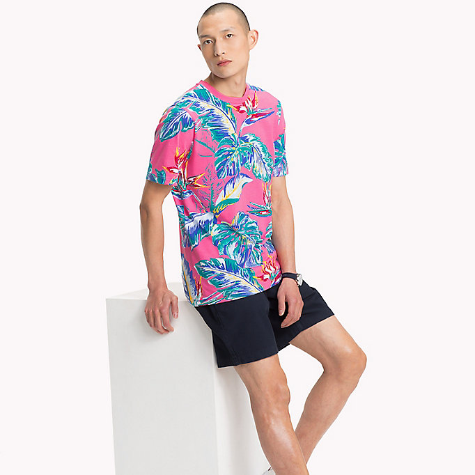 TOMMY HILFIGER Paradise Palm T-Shirt - COOL BLUE - TOMMY HILFIGER Men - main image