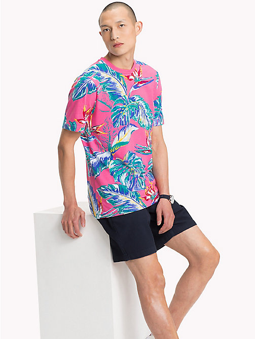 TOMMY HILFIGER Paradise Palm T-Shirt - PINK LEMONADE - TOMMY HILFIGER Vacation Style - main image